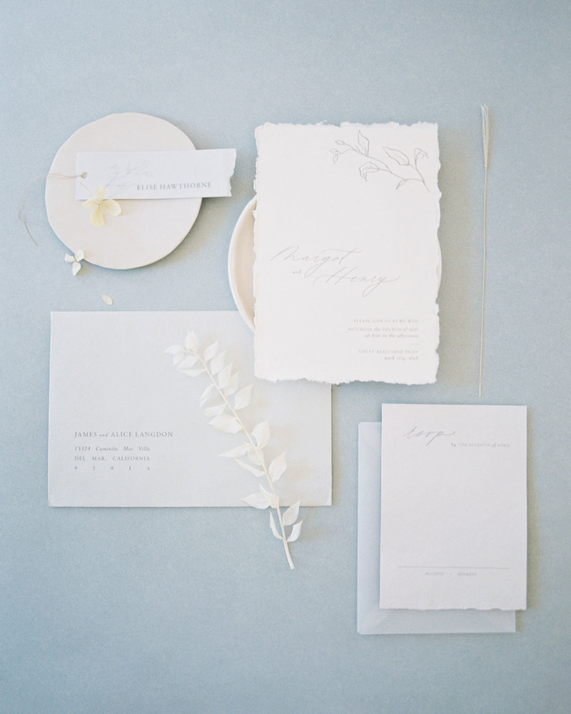 Dominique Alba wedding invitations minimalistic collection Flora full suite