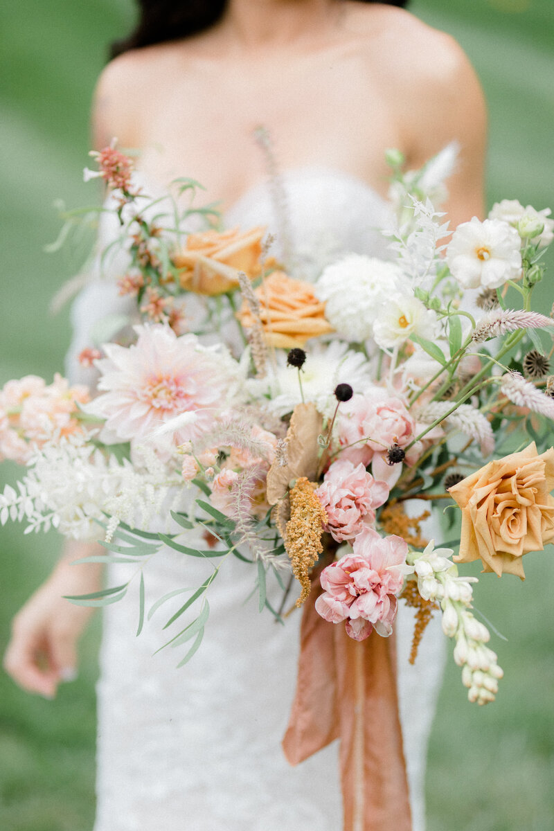 autumn brides bouquet at French Inspired Private Estate wedding in charlottesville virginia by costola photography