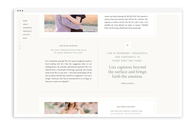 Elizabeth M Photography - With Grace and Gold - Logo Design, Stationery Design, and Web Design for Creative Women in Business - Photo - 4