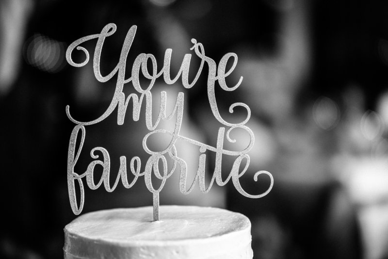 Wedding cake topper you're my favorite
