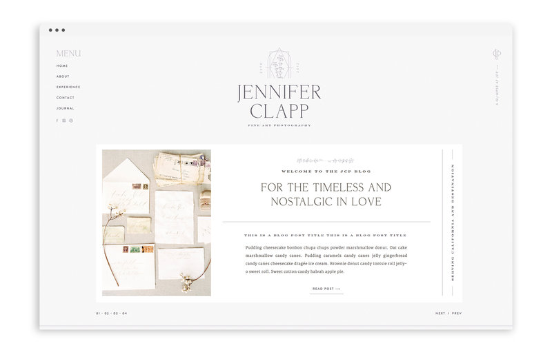 Jennifer Clapp Photography - Brand and Custom Showit Web Design by With Grace and Gold - Photo - 3
