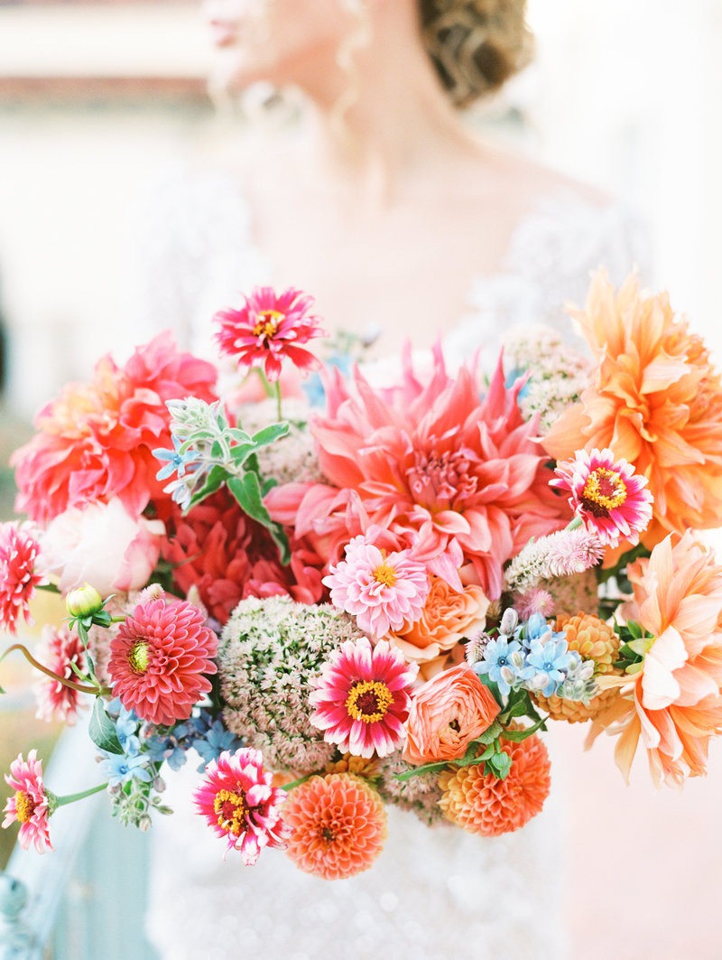 Colorful Bridal Bouquet in Bartlesville, Oklahoma