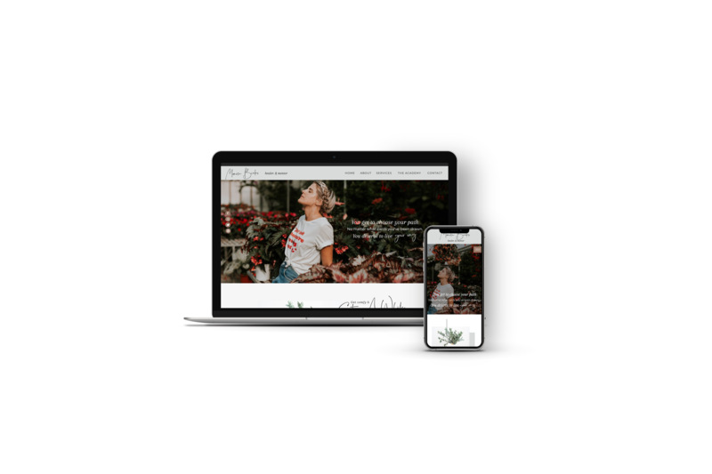 Website Template for Personal Brand or Influencer by Bold x Boho