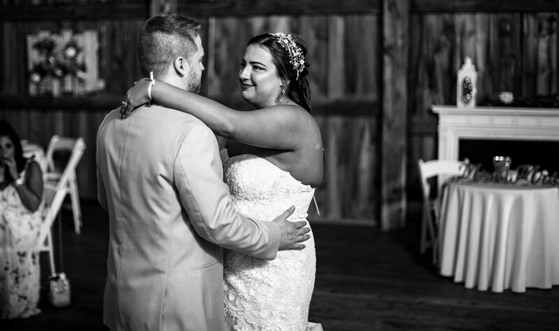 First dance at Port Farms wedding