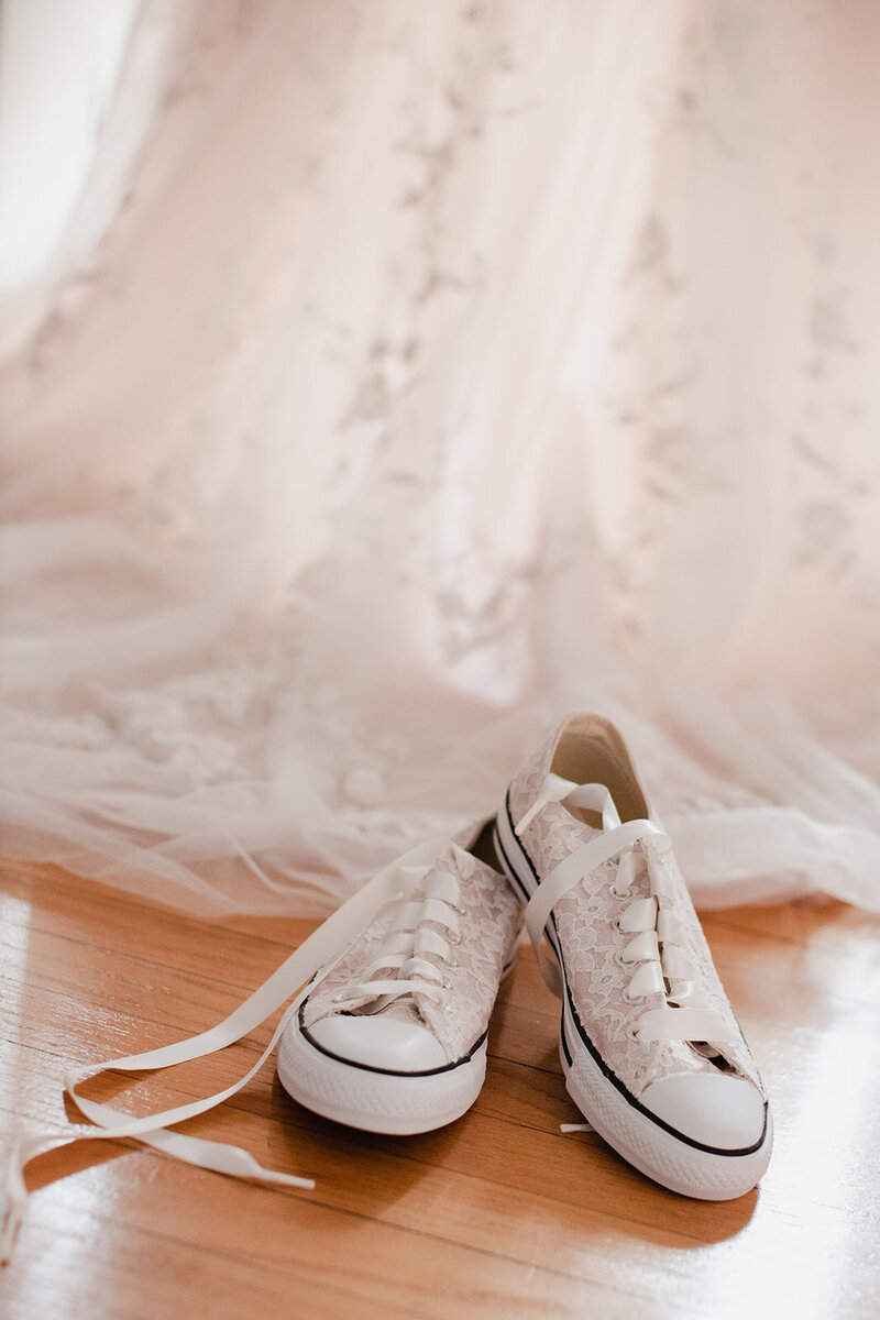 Converse Shoe and Wedding Dress