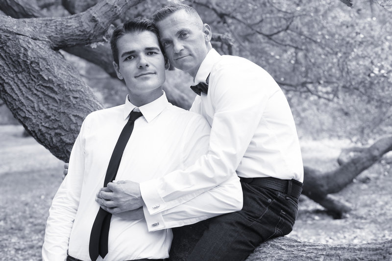 groom and groom, romantic wedding photography