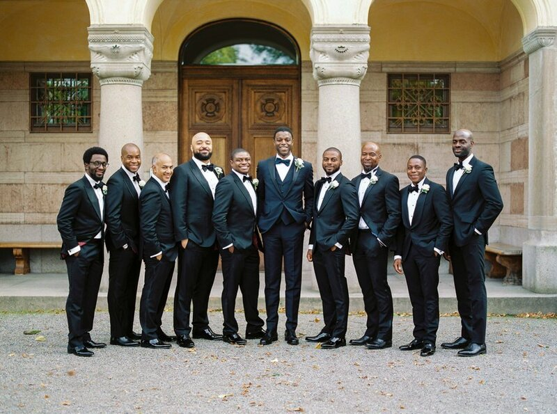 0027_Groom-with-all-of-his-nine-groomsmen-Waldemarsudde