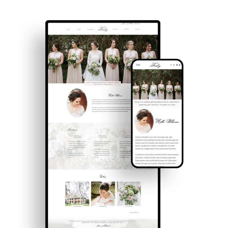 Showit Website Templates | Viva la Violet | Finley