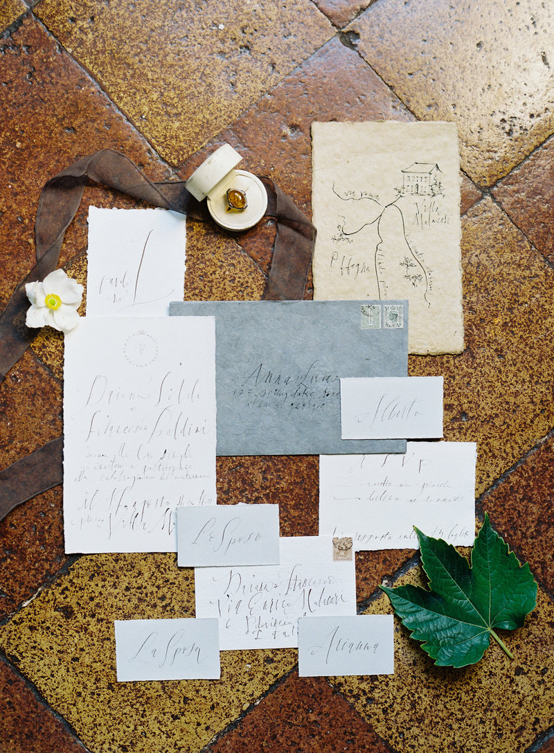 Calligraphy suite by September Letters - Photo by Michael and Carina Photography