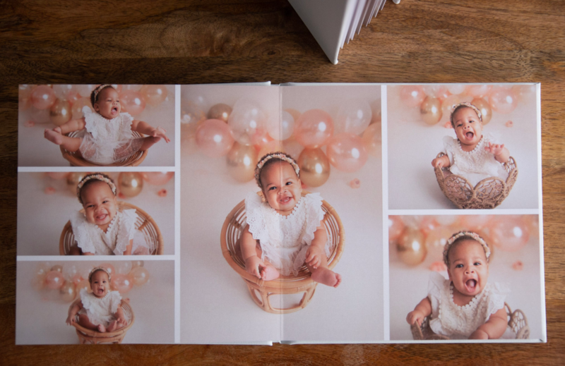 legacy photo book white leather lay flat cake smash