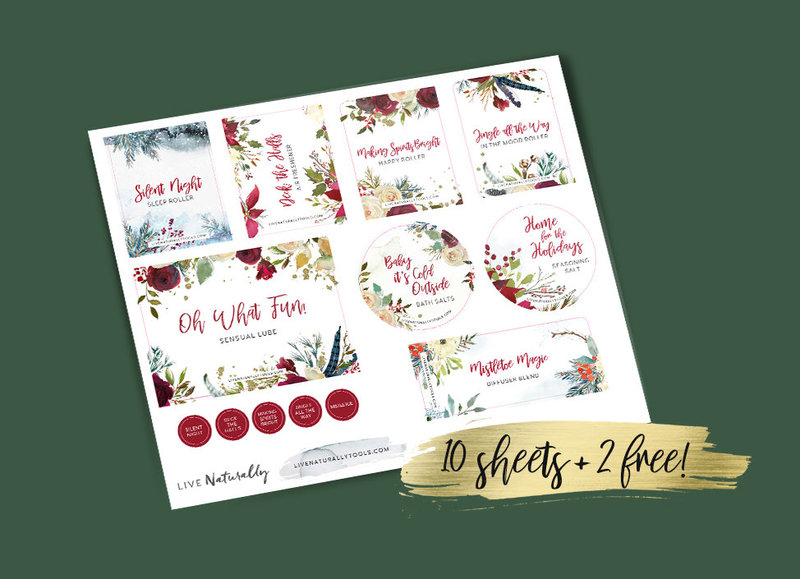 Holiday Labels 17 10shts