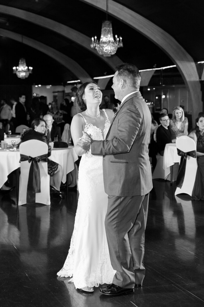 father daughter dance at detroit wedding reception