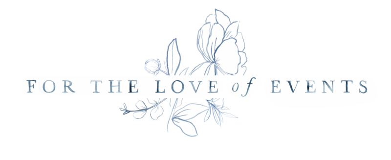 for the love of events logo