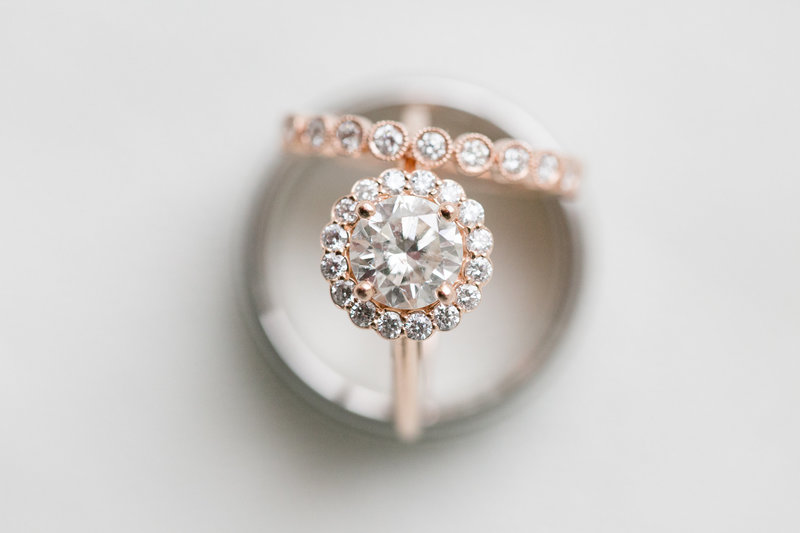 Wedding rings at Springfield Manor