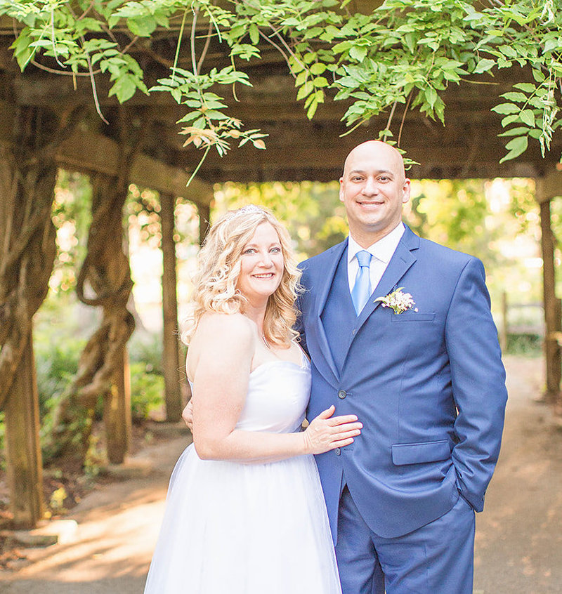 bride and groom married at silvers springs park