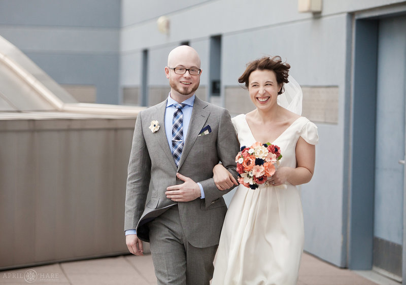 Anschutz Family Sky Terrace Rooftop Wedding Ceremony at Denver Museum of Nature and Science