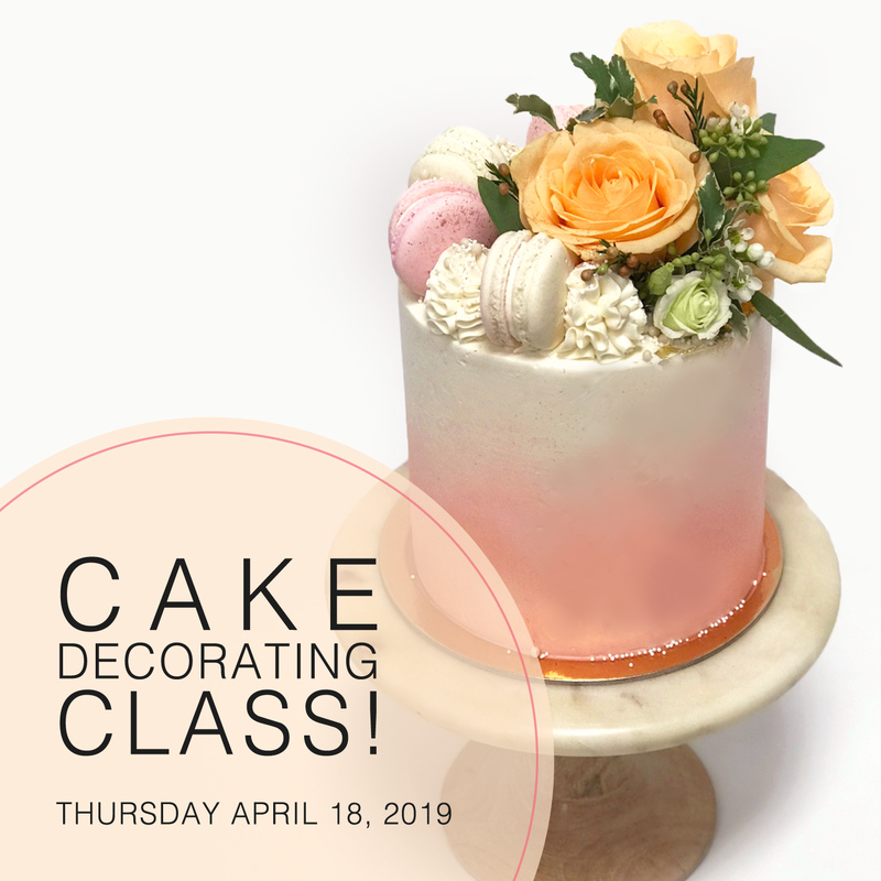 Whippt Desserts - Cake Decorating Class Apr 2019