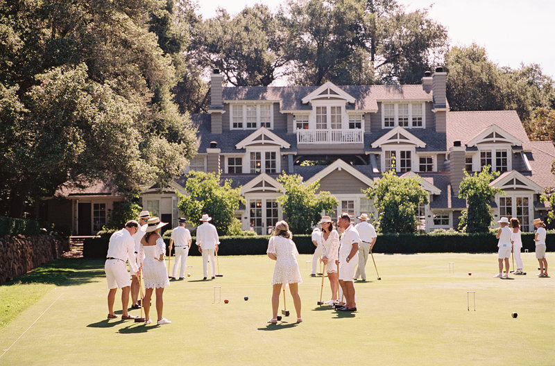 Croquet and brunch at Meadowood for corporate event by Jenny Schneider Events in Napa Valley, California.