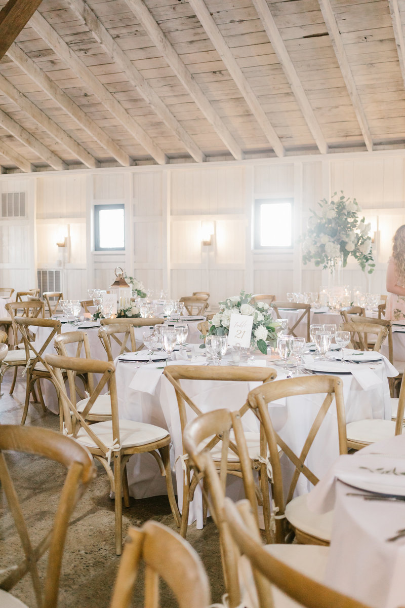White Washed Reception and decor