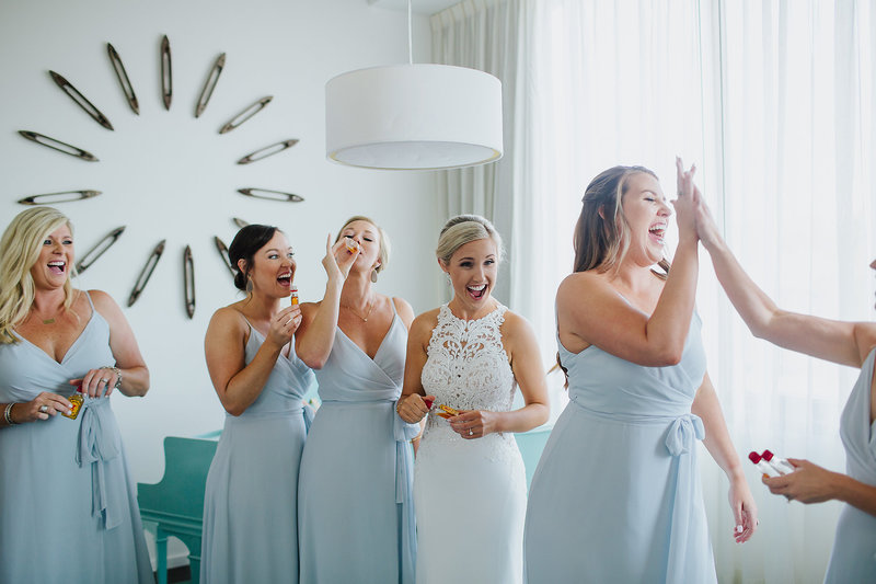 bride getting ready savannah wedding photographer