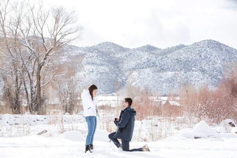 Colorado proposal in Basalt with Dan and Elizabeth