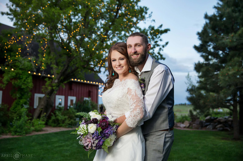 Beautiful wedding portraits at Denver Botanic Gardens Chatfield Farms