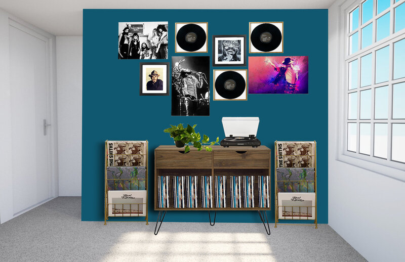 Record Wall Render