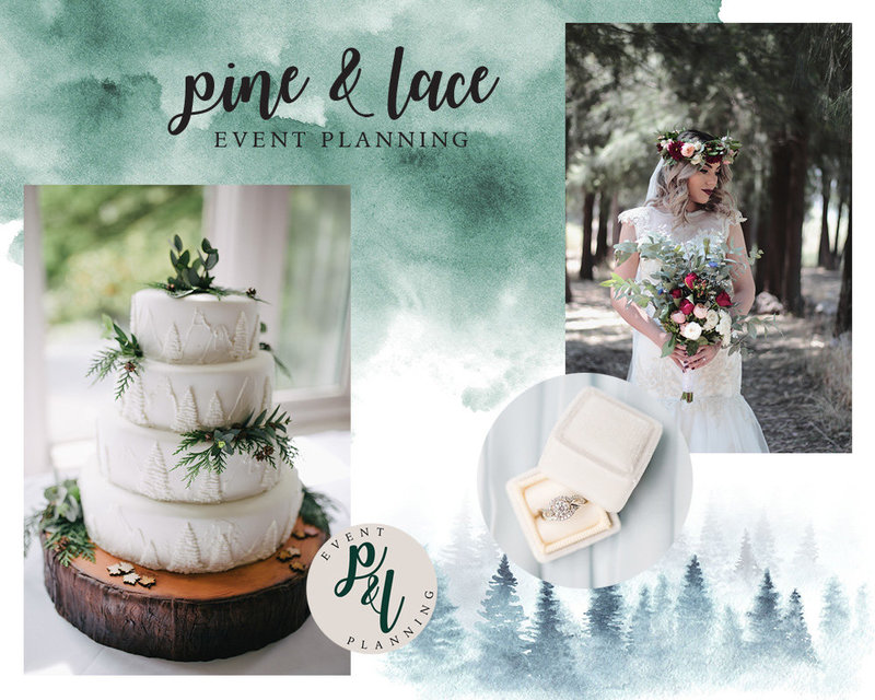 Brand design concept for wedding event planner