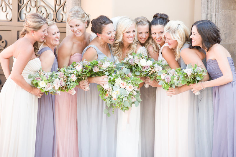 Soft Pastel Private Estate Wedding Bridesmaids Paradise Valley, Arizona | Amy & Jordan Photography