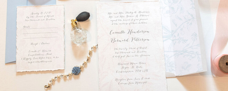 Wedding Stationery Soft Blue