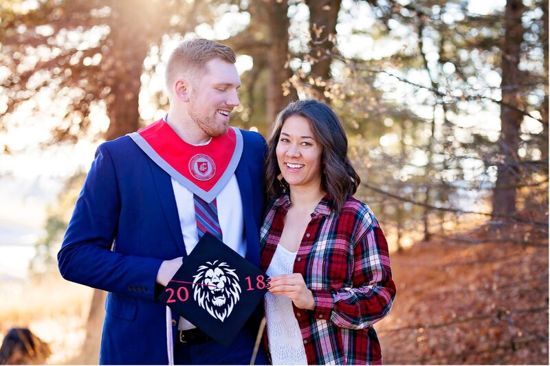 College graduation pictures for couples