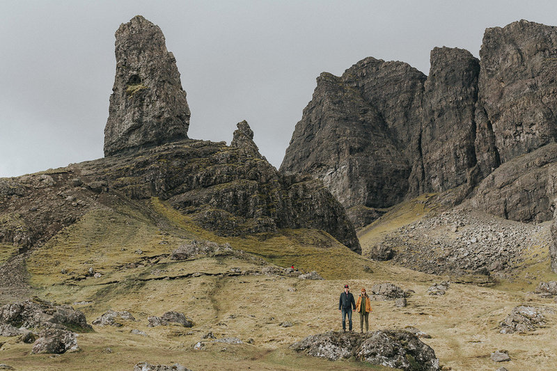 Old Man Storr hikers