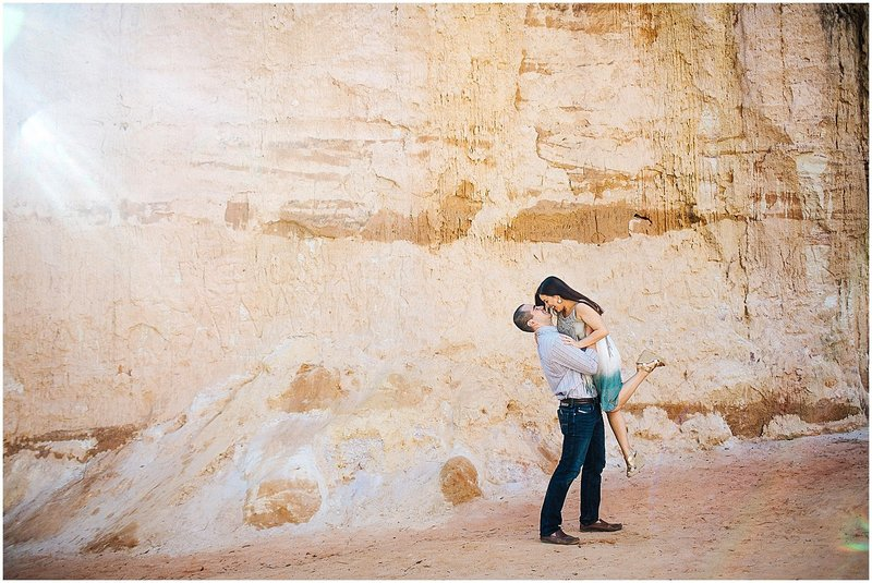 providence canyon engagement session