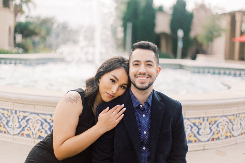 Balboa Park Engagement Photos in San Diego