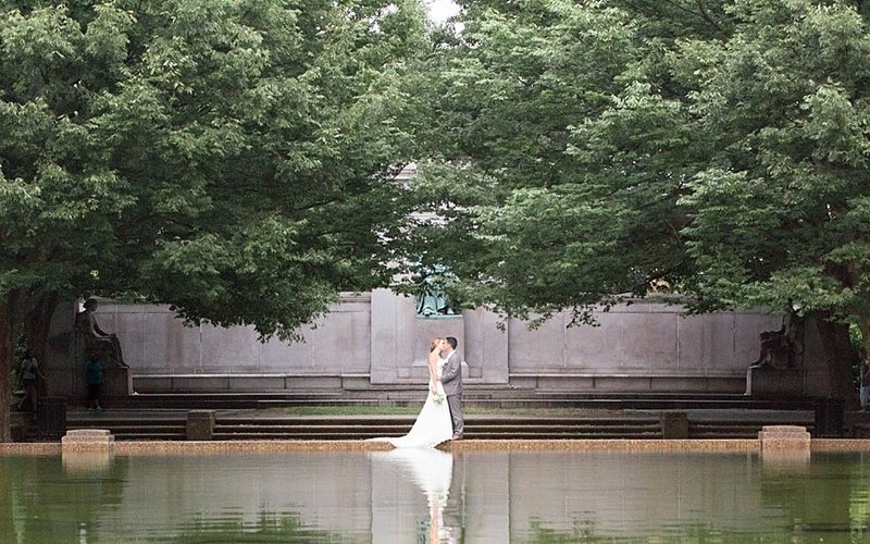 Meridian Hill Park Wedding Couple | Monique Lockwood