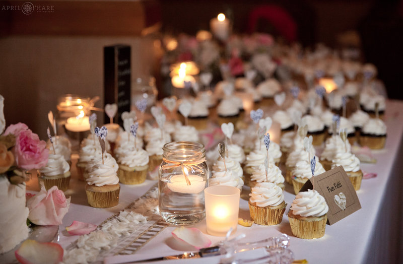 Pretty-Pink-Wedding-Cupcakes-on-a-Dessert-Table-by-Blue-Moon-Bakery-in-Dillon-Colorado
