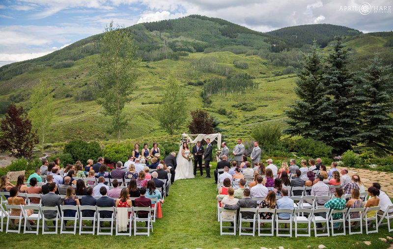 The Mountain Wedding Garden  Wedding Ceremony in Crested Butte