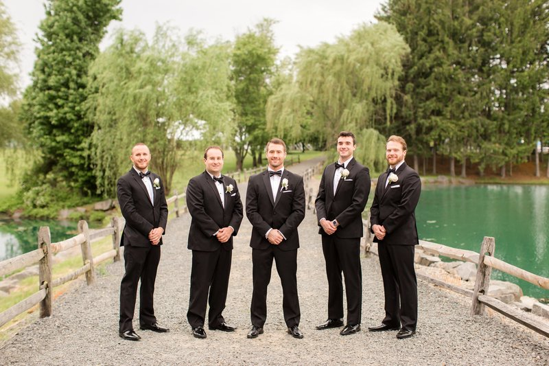 Groomsmen at Frogbridge
