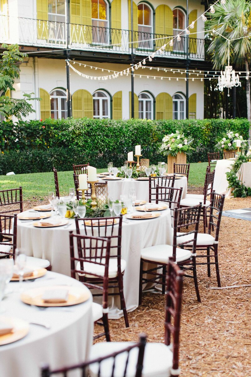 Wedding reception at the Hemingway Home