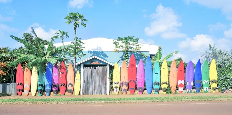 Colorful Maui Surfboard Fence