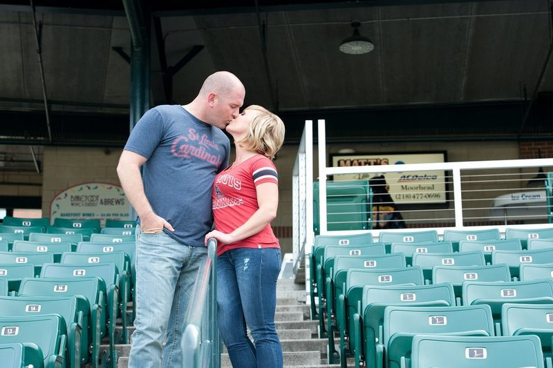 Fargo Red Hawks Engagement session at the stadium by kris kandel (2)