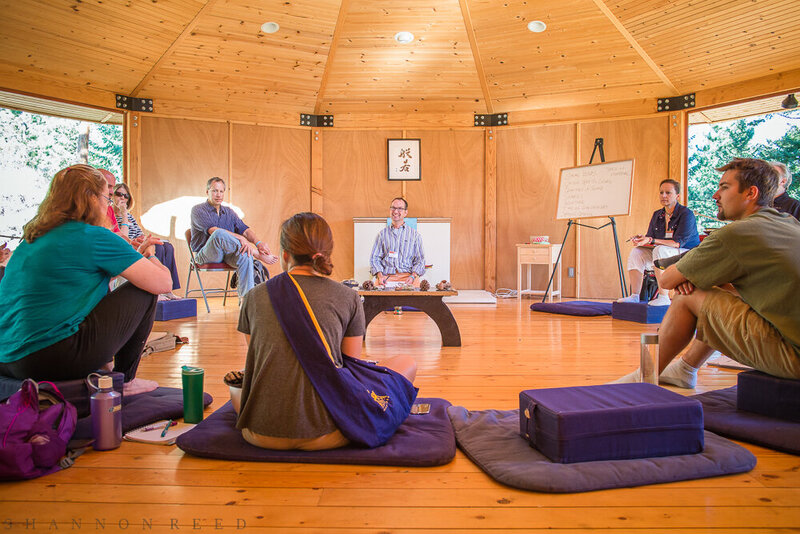 Shambhala retreat image with Albert Teaching