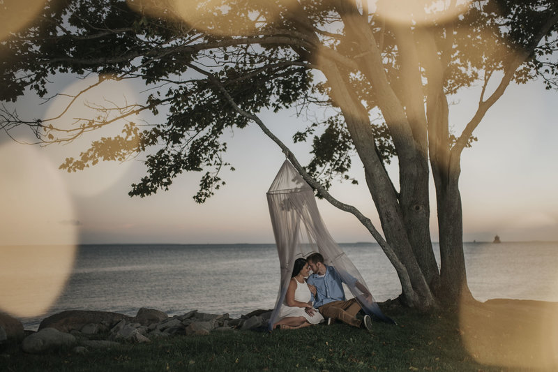 Bohemian Sunset Engagement Session Connecticut