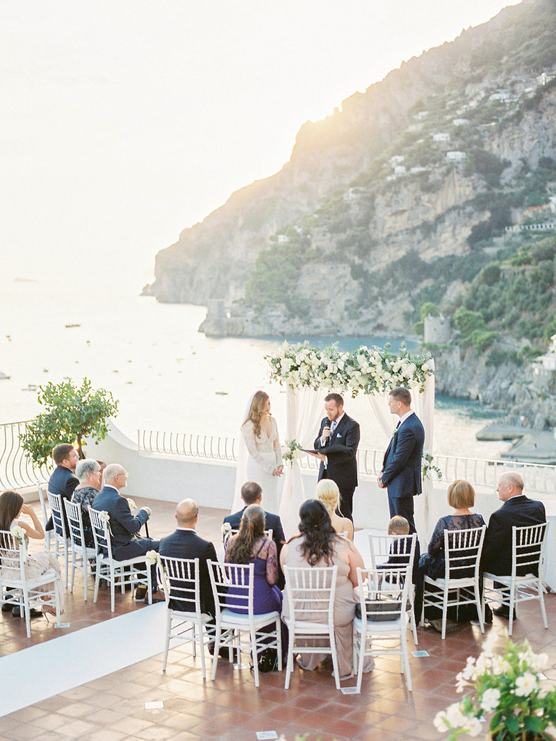 Wedding-ceremony-at-sunset-in-Positano-Italy