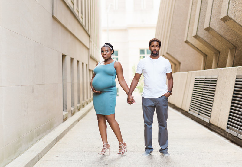 downtown raleigh urban maternity photos