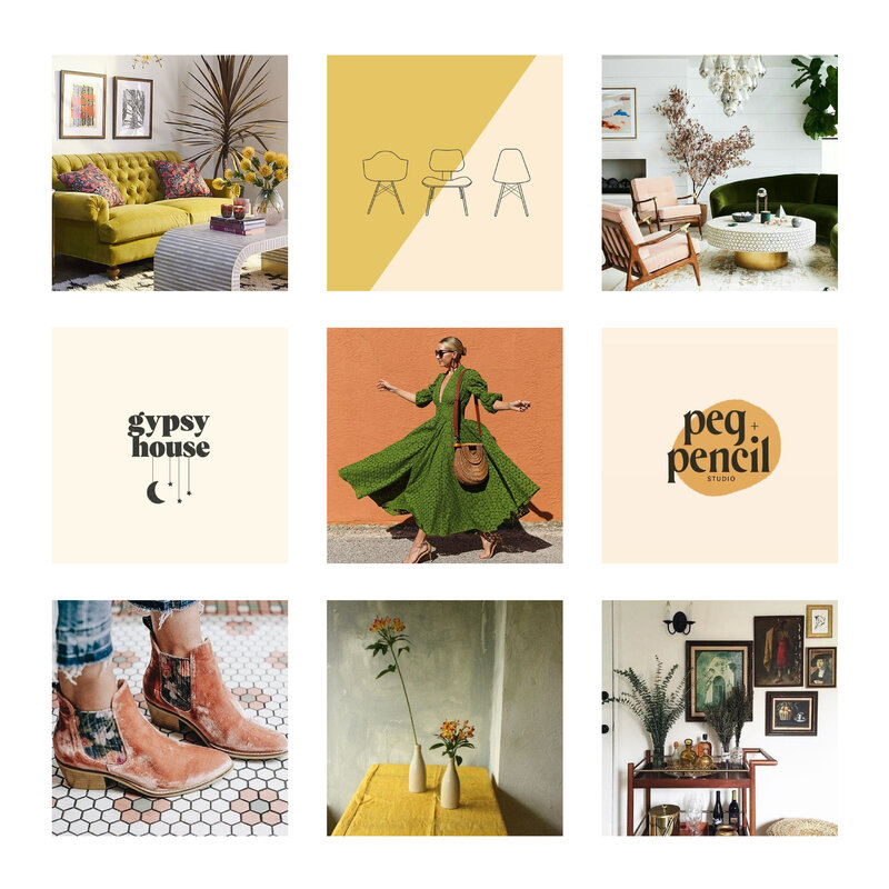 Chelsey Ashford Photography Greenville Brand Mood Board