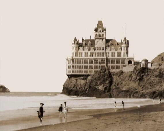 Cliff House San Francisco circa 1896 - 8 x 10 - Instant Download