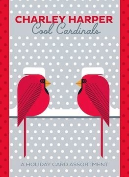 Charley Harper Cardinals in a holiday card set.