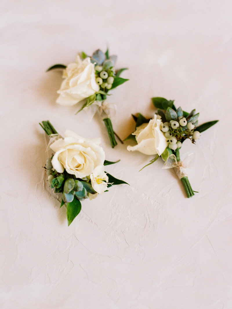 Groom's Boutonniere with mini succulents