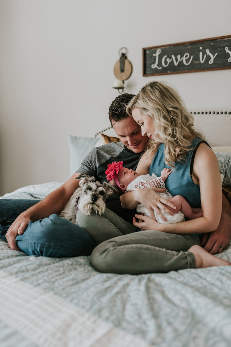 Lifestyle newborn session  in Fort Mill, SC